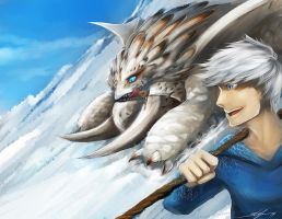 Mountain Fun! : Jack Frost + Bewilderbeast by slifertheskydragon