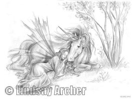 Nap in the Meadow by LinzArcher