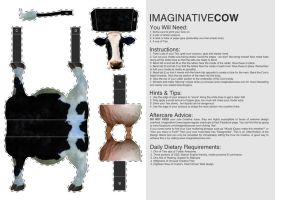 Cow Card Model Template by squiffythewombat