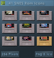 SNES Roms [Cartridge Icons] by VoidSentinel