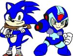 Boom Sonic and Megaman X by tanlisette
