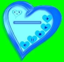 Blue Heart WMP Skin by Amber4Ever