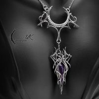 ISTHYANEL - silve, quartz and amethyst by LUNARIEEN