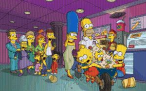 Simpsons at the Movies Mosaic by smallrinilady