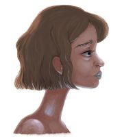 profile of some random short-haired girl by MariaSan