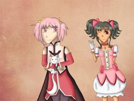 Tales of Magica: Madoka and Anise by bogidream