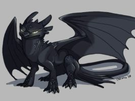 Toothless is not amused by AbelPhee