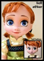 WIP - the sky's awake. little anna ooak doll. by verirrtesIrrlicht
