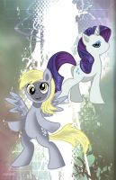 Rarity and Derpy by spicemaster