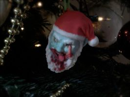 3D printed Zombie Santa Claus Ornament by Cissell