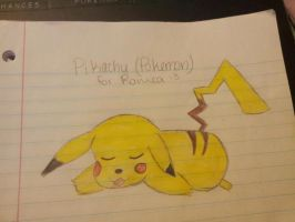 Pikachu (Pokemon (for Romea)) by PsychoticPanda101