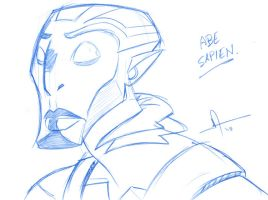 Abe Sapien Sketch by deemo-um