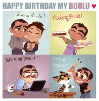 Happy Birthday my Boulu by princekido