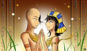 King Tut and Ankhesenamun by Smudgeandfrank
