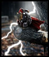 Thor squirrel by Santiago-Perez