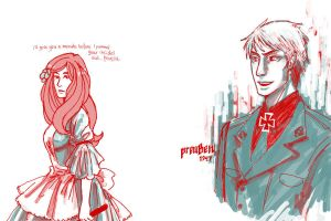 hetalia - green and red by lackofsleep
