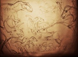 new project: dinosaurs-children-painting by barbko