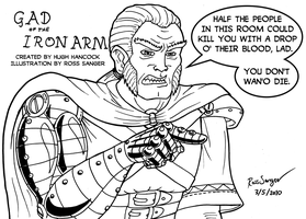 Gad of the Iron Arm - inks by Ross-Sanger