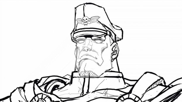 M.Bison shading process by MightyOtaking