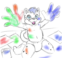 Finger Painting fun by tster