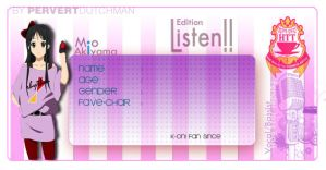 Listen Edition - Mio by CielRz-Jr