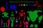 Green lantern brush set by zutara-canon