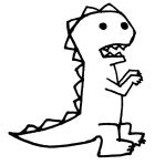 Dim-witted dinosaur by TrippingIslands