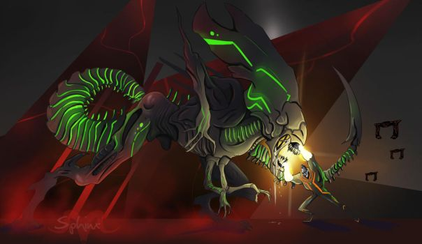 ALIENS VS TRON by TheSphinxDen