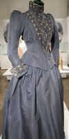 Grey Victorian Dress Stock II by Avestra-Stock