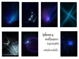 Blue series for iphone4 by teddybearcholla