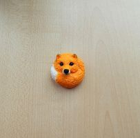 Fox brooch by koshka741