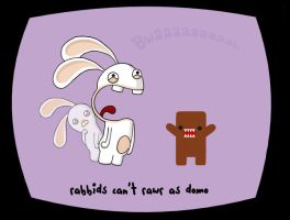 rabbids can't rawr as domo by Currykat