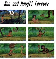 Kaa and Mowgli forever by pasta79