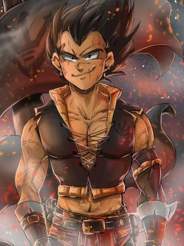 DBZ - Vegebul Pirate AU: Vegeta by RedViolett