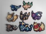 Pokemon Sleeping Eevee Evolution Set by RetroNinNin