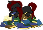 Book Hoarder by Caro-Kitty