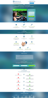 Landing Page (Vehicle insurance) by Roamn