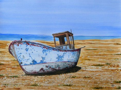 Abandoned boat by Lord-Makro