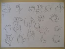 Practicing traditional art - hands by Crimson-Flazey