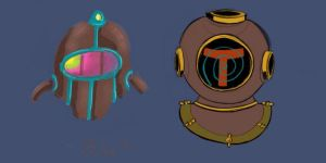 Diving Helmets by Diagn0s3dInd1g0