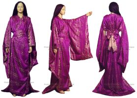 Royal Purple Jamavar Yukata by HasturCTS