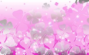 Sookie Pink Clover Wallpaper by sookiesooker