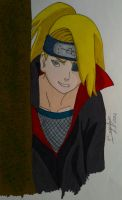 Spying Deidara Color by AlienaXLoK