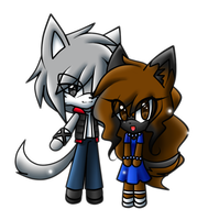 .::PC::. Chibi Terra and Gabriel by WatermelonOwl