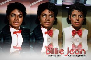 Billie Jean 1/1 bust comparison by godaiking