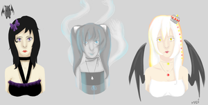 3 Of My Oldest OCs by Madi-Gascarr