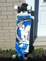 Scootaloo themed longboard by SuperChargedBronie