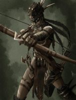 Concept Wild Huntress by Sharprock86