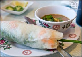 Shrimp spring roll by aheria