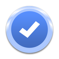 Blue Verification Tick Icon by BrodyBlue